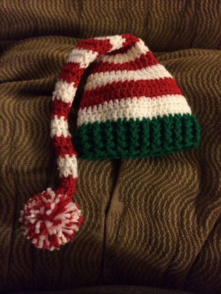 Crochet Pattern Stocking Hat : Pin by Mariana Frascara on Crochet ? Navidad, Navidad ...
