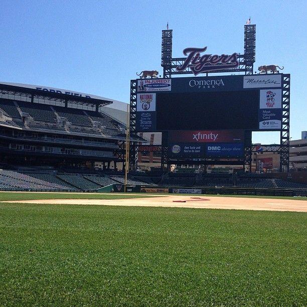 Comerica Park Detroit Michigan: Scoreboard, Behind The Scenes Of Comerica Park Detroit