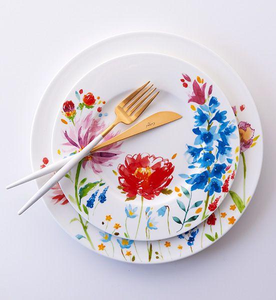 Villeroy and Boch plates, Cutipol cutlery