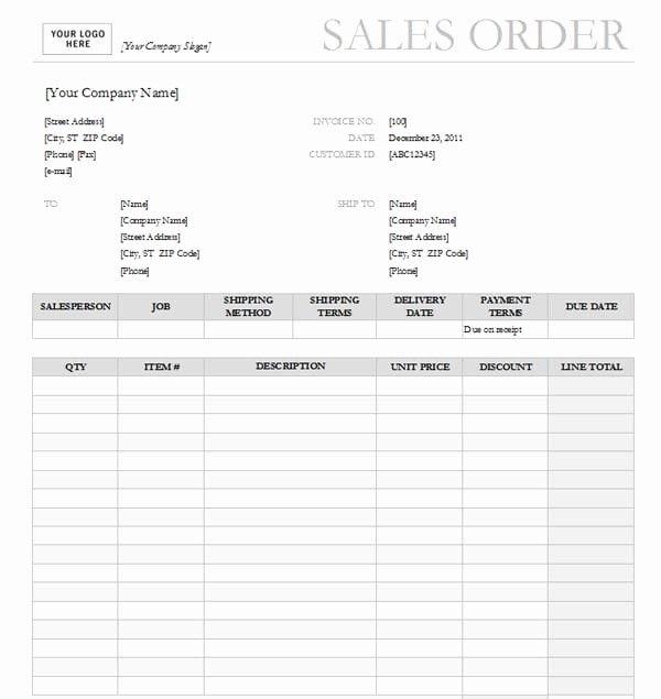 Photography Order Form Template Excel Elegant Sales Order Templates Order Form Template Order Form Template Free Templates
