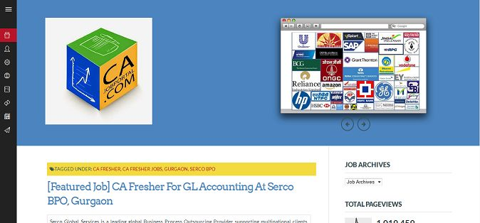 cajobportal.com Job Portal Anurag Singal x14anurag