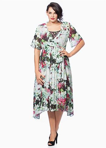 Big Sizes Womens Clothing   Clothes for Larger Size Women - SUGAR PLUM DRESS - TS14