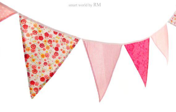 Guirnaldas de banderines, Fechas señaladas, Cumpleaños, Textil, Decoración