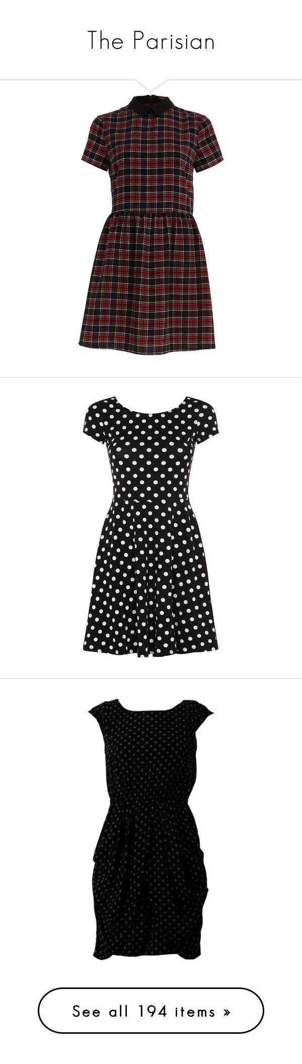 """The Parisian"" by spuddster ❤ liked on Polyvore featuring dresses, sale, tartan skater dress, river island dresses, tartan dresses, tartan plaid dress, short-sleeve dresses, vestidos, short dresses and short-sleeve skater dresses"