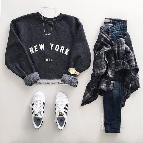 The most popular tags in this image: fashion, outfit, adidas, style and new york