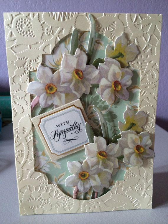 Card Making Ideas Sympathy Part - 32: Handmade Motheru0027s Day, Greeting Card, Floral, Vintage
