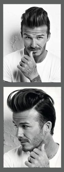 Quiff Hair!   David Beckam = follower of faschion! il suo look quiff and pompadour è ancora molto di moda nel 2013! e non solo per gli uomini..  #quiffhair #davidbeckam #menhairtrends
