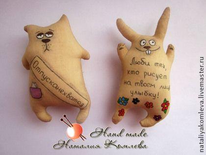 Ароматизированные куклы ручной работы. Ярмарка Мастеров - ручная работа Кофейные коты и зайцы. Handmade.
