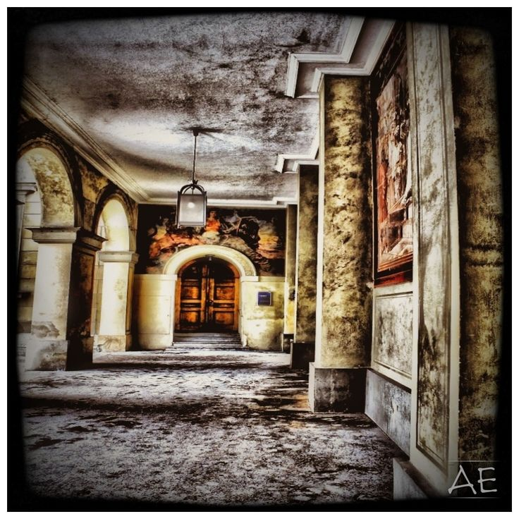 Courtyard by AngelEowyn