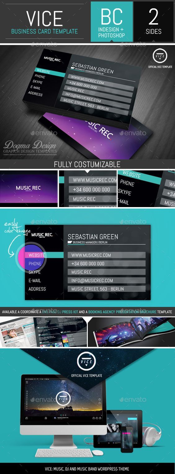 The 25+ best Dj business cards ideas on Pinterest | Free business ...