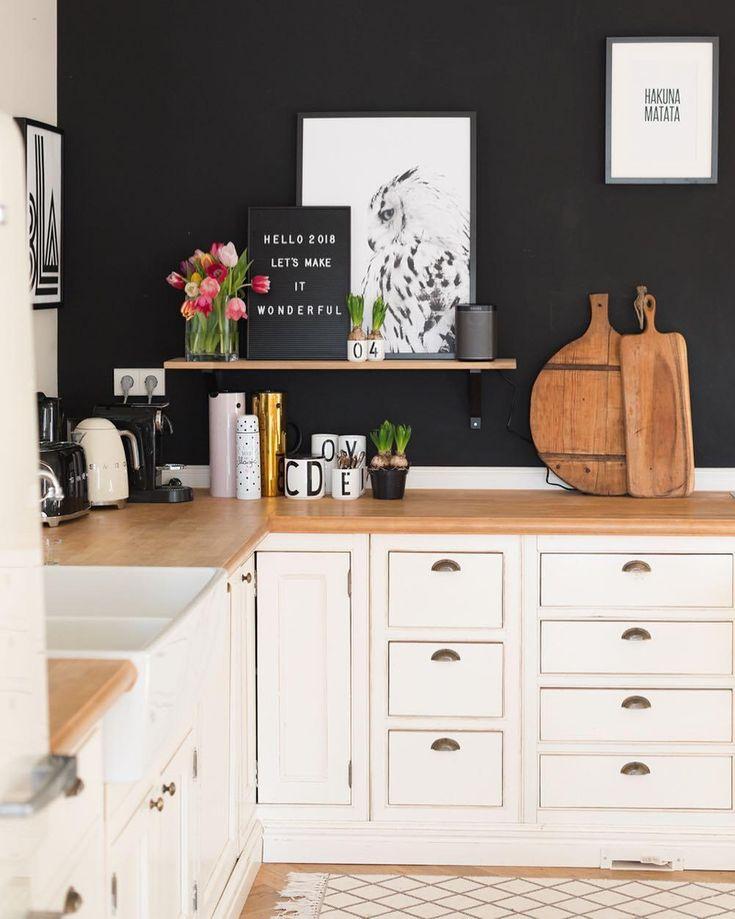 623 best Küche images on Pinterest - küche schwarz weiß