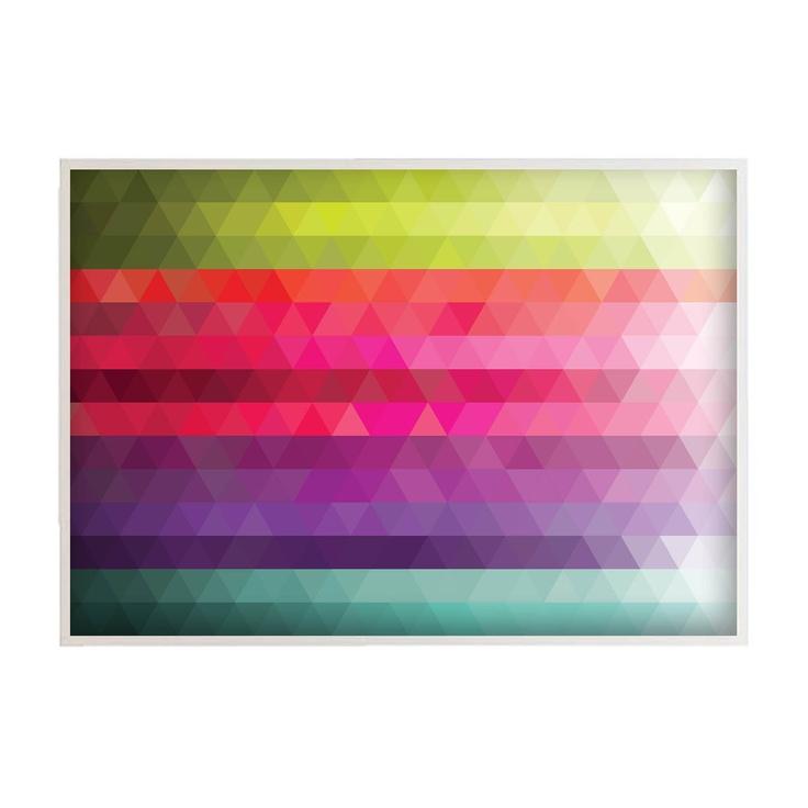 "Fine Art Print Illustration - Poetic Geometry:  Colorful Gradients 02 - 30x40"" (70x100cm) Size (Also in Custom Sizes). $129.00, via Etsy."
