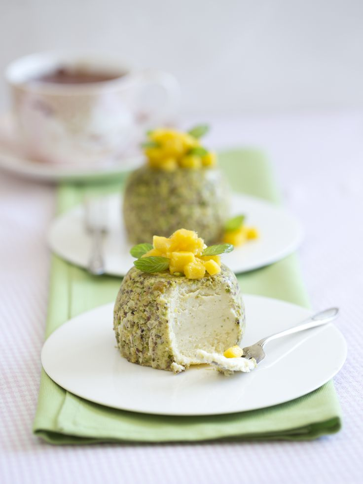 Steamed pistachio cheesecakes with mango  | Thermomix cookbook | Cooking for me and you | #Cookingformeandyou