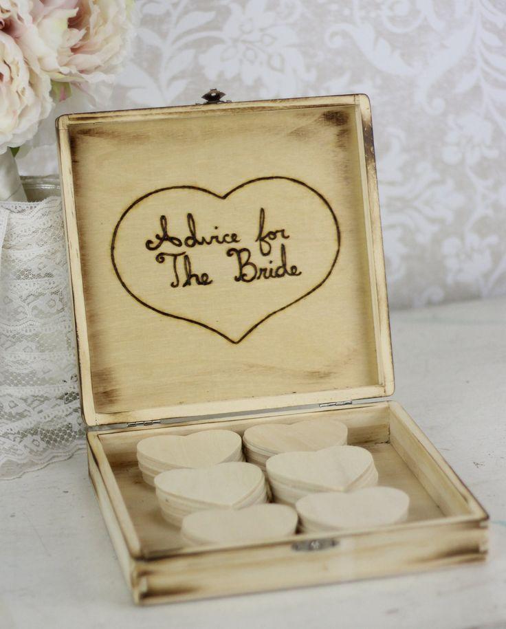Bridal Shower Guest Book Rustic Chic Wedding Decor Advice Box 49 99 Via Etsy