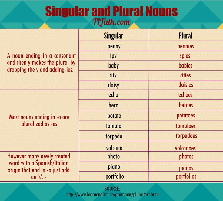 Singular and Plural Nouns 2/2