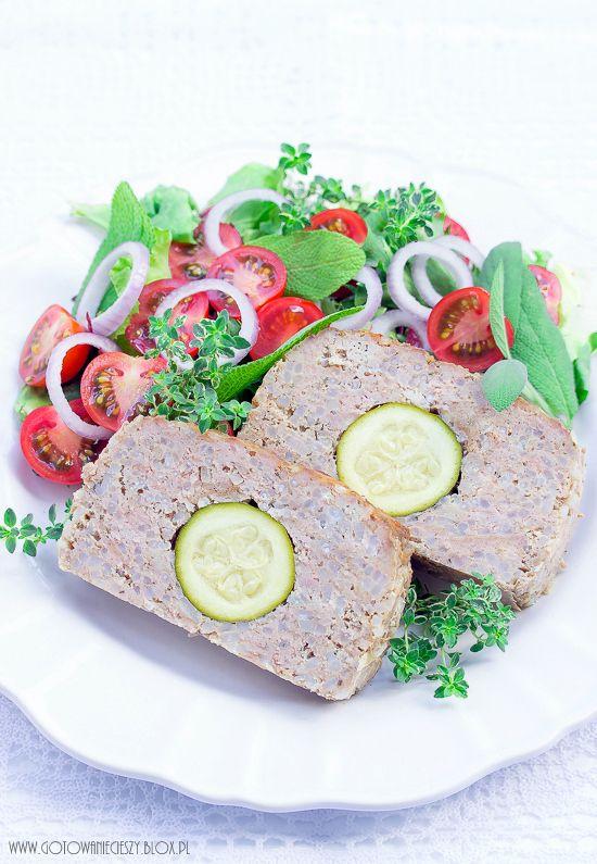 Klops mięsny z ryżem i cukinią (dietetyczny)