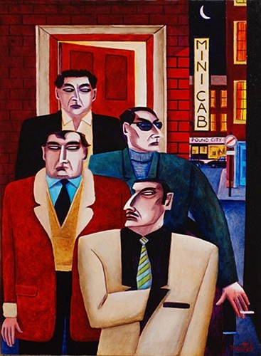 Graham Knuttel ''Gangsters'' #art #painting #gansters #DukeStreetGallery #GrahamKnuttel