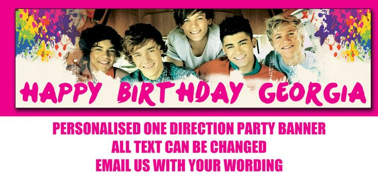 One Direction Boy Band Banner Personalised Party Banner #personalisedwrap #BirthdayChild
