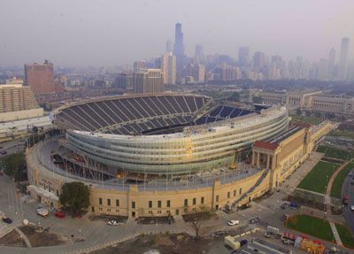 This just in...Giant Spaceship has landed on Soldier Field!  SOOO glad I got to experience the ORIGINAL Soldier Field!