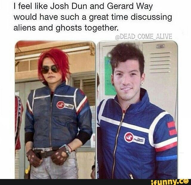 Reasons why I love josh dun 1. Funny 2. Wears the party Poison jacket 3. Great personality  4. Knows and likes my chemical romance 5. Amazing drumming skills 6. And wears the party Poison jacket