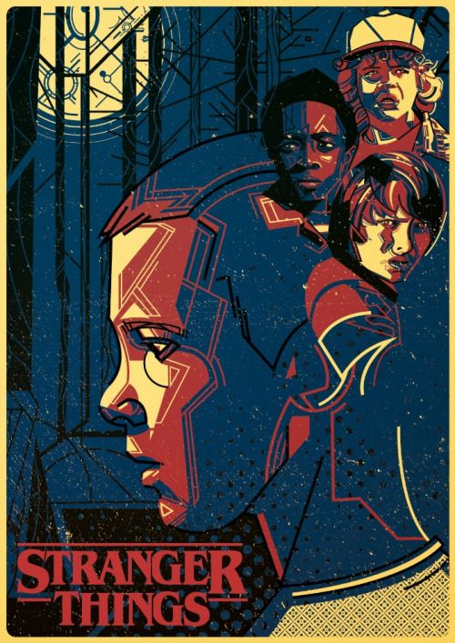 "Stranger Things ""2016-"" (Genre: Drama/Mystery) Starring: Winona Ryder as Joyce Byers, David Harbour as Jim Hopper, Finn Wolfhard as Mike Wheeler, Millie Brown as Eleven, Gaten Matarazzo as Dustin Henderson, Caleb McLaughlin as Lucas Sinclair, Natalie Dyer as Nancy Wheeler, Charlie Heaten as Jonathan Byers, Mattew Modine as Dr. Brenner, Joe Keery as Steve Harrington & Noah Schnapp as Will Byers. Plot: When a boy disappears, his mother, police chief and friends go search for him."