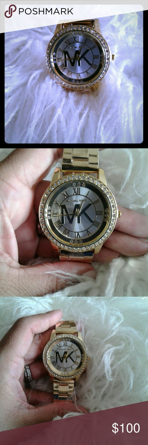 Gold Michael Khors Watch Gold Michael Khors Watch with Crystals MICHAEL Michael Kors Accessories Watches