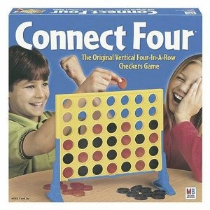Connect Four - this is so cool...it is on the Top 100 Best Seller list on Amazon..How cool is that. This game is great...especially if you are wanting a game to play for a short time period. It is even fun just filling up the grid and seeing how the colors match up! Haha.