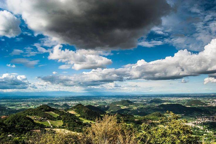 Clouds and nature #Colli Euganei #Padua #Italy #clouds #sky #hills