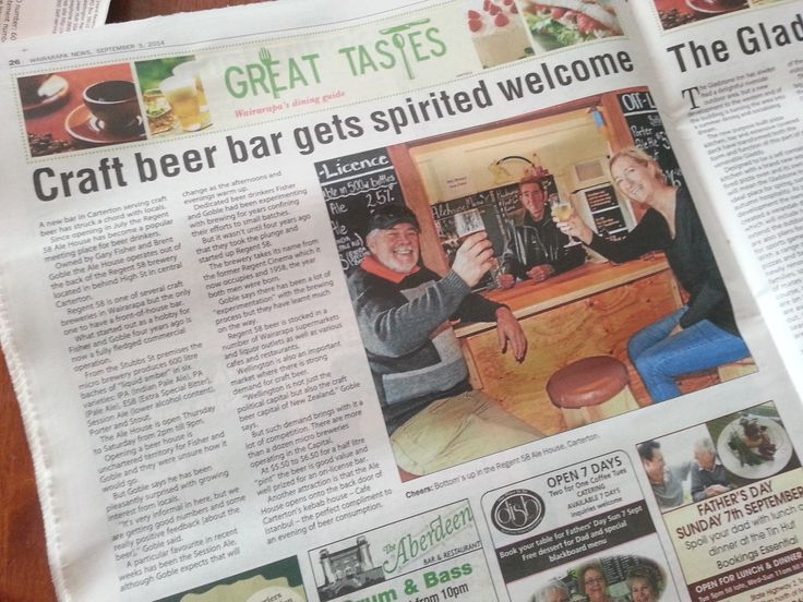 Regent 58 Brewery are a small Carterton-based brewer of British-style ales in the Wairarapa.