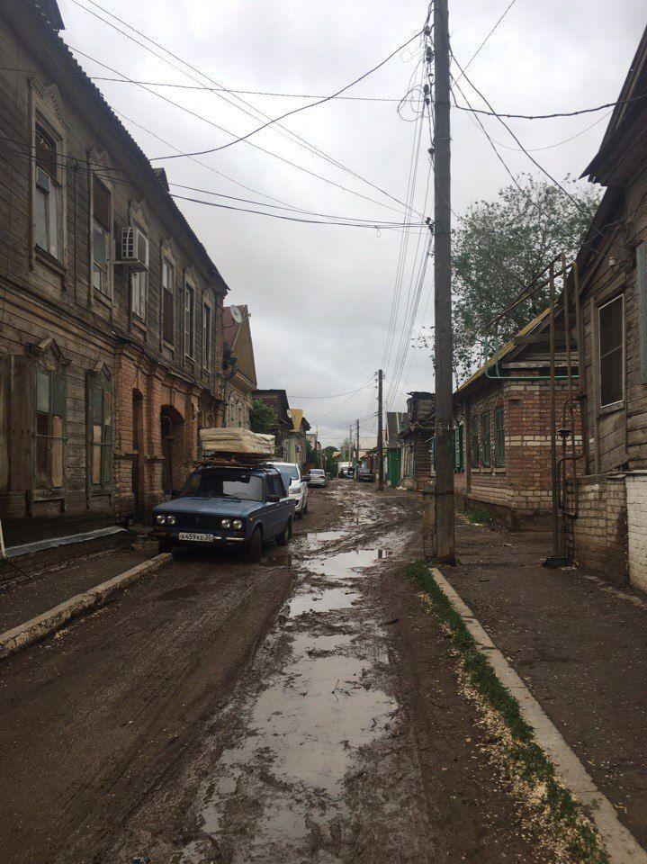 Астрахань. После дождя