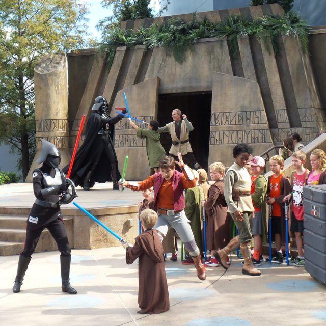 Jedi Training at Disney's Hollywood Studios at Walt Disney World in Orlando, Florida, USA