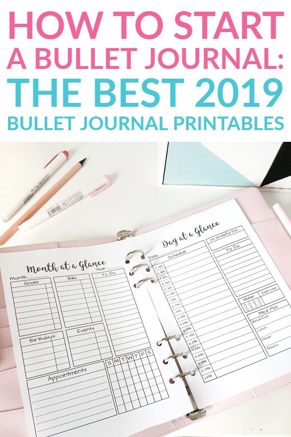 The Best 2019 Bullet Journal Printables