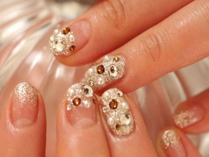 50+ Coolest Wedding Nail Design Ideas  - Planning for wedding and looking for cool wedding nail design ideas?! These wedding nails designs will amaze all guests. These tutorials for you, Start Now! -  nails-ideas-wedding-nail-art-designs-1024x768-66 .
