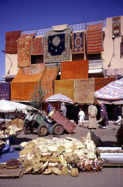 Morocco Carpet Vendor by Morocco Travel Photography
