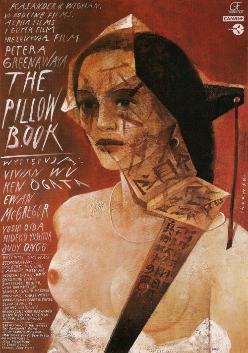 "23_""The Pillow Book"" polish poster by Wiktor Sadowski.jpg"