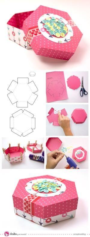 caja de papel para regalo by luz