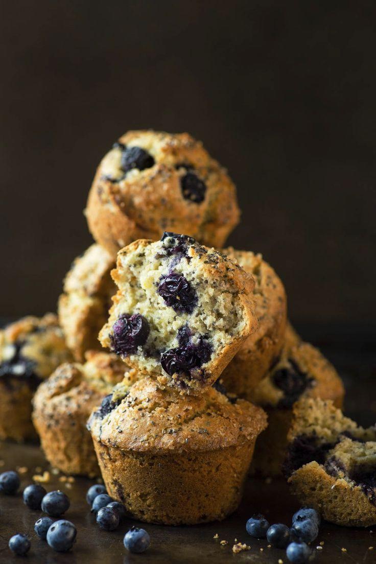 Muffins aux bleuets et graines de chia | K pour Katrine