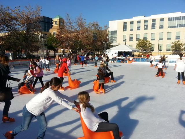 When LA Freezes Over: Ice Skating in the Sun with These Outdoor Ice Rinks in LA #TheRinkDTNBUR