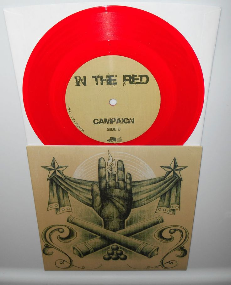 "IN THE RED campaign - to shake to tremble RED VINYL 7"" Record mike hale Gunmoll #AlternativeIndiePunkNewWave"