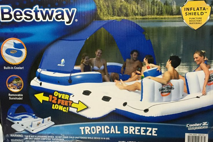 New Bestway Inflatable Island Cooler Lake Float Pool Water River Raft Party Tube