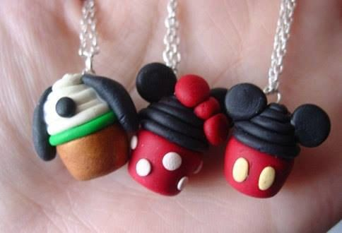 Disney Cupcake Pendent Necklace Minnie mouse by MajesticEncounters, $13.00
