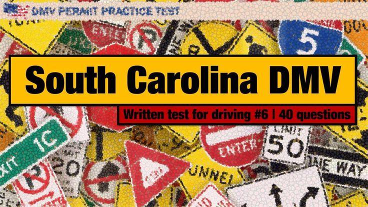 Written Exam For Driving: South Carolina DMV Permit Practice Test 6