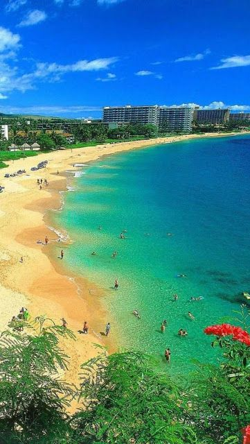 Kaanapali Beach, Maui, Hawaii. I want to go see this place one day. Please check out my website thanks. www.photopix.co.nz