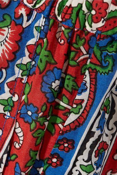 Mes Demoiselles - Printed Cotton-blend Voile Flared Pants - Blue - FR38
