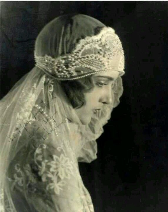 Victorian bride - looks more like 1920's with that head-dress - so lovely