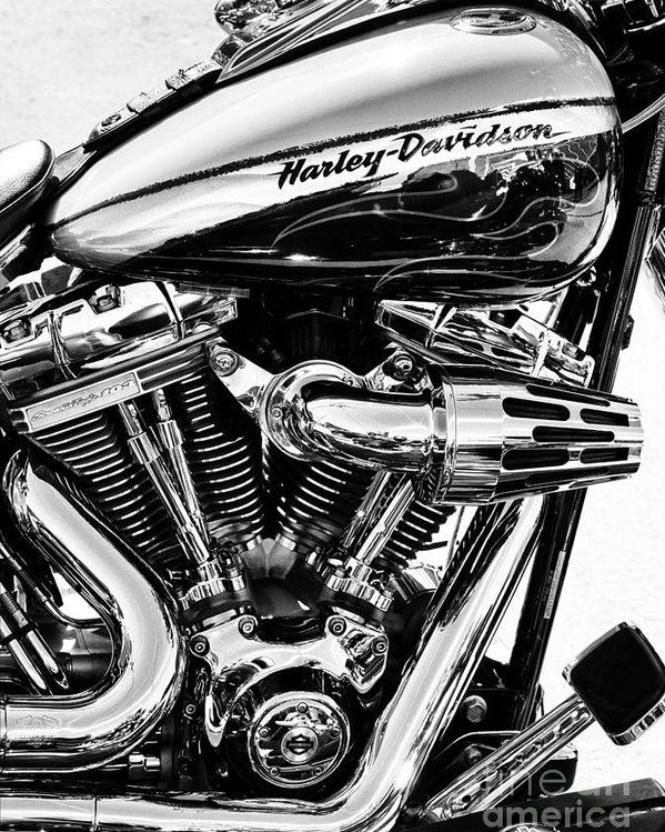 Harley Monochrome Poster By Tim Gainey All Posters Are Professionally Printed Packaged And Shipped W In 2020 Harley Bikes Harley Davidson Frames Harley Davidson Art