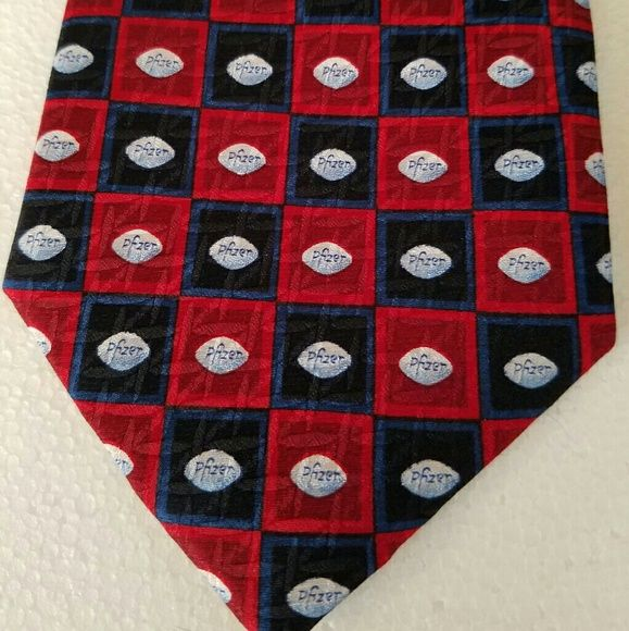 "Pfizer Pill Design Mens Neck Tie This tie feature a repeat pattern on the ""little blue pill"", Viagra! Classy yet subtle. Preowned in excellent condition. Makes a great gag gift too! Pfizer Accessories Ties"