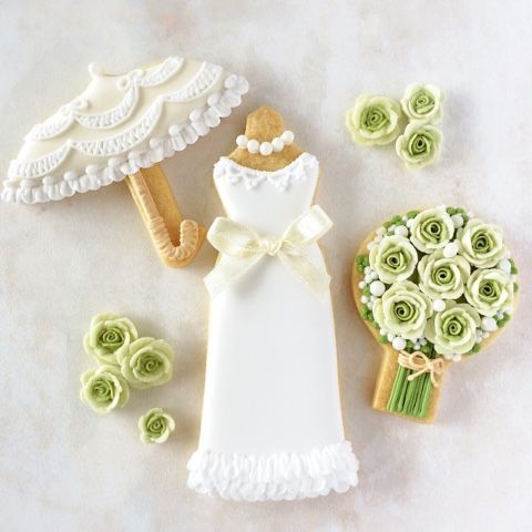 beautiful cookies for bride