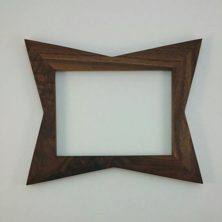 Retro Picture Frames, Danish Modern Picture Frames, Mid Century Trapezoid Picture Frames, Art Frames, Mid Century Inspired, Atomic Frame by EverythingModern on Etsy https://www.etsy.com/listing/285491837/retro-picture-frames-danish-modern