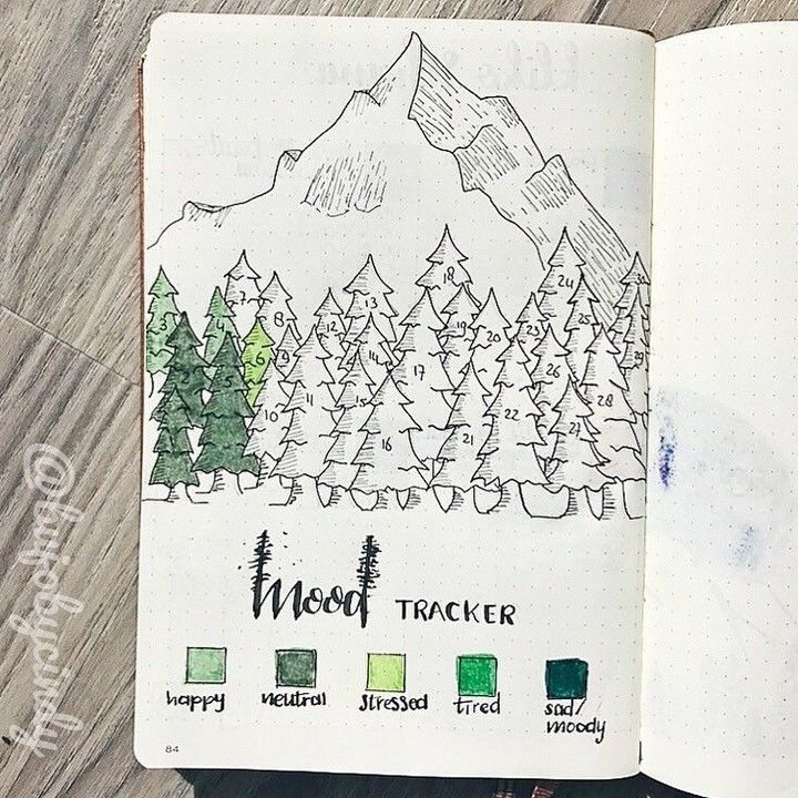 It's no secret I'm obsessed with trackers… . This gorgeous forest by @bujobycindy is how I wish my km forest would turn out for my runs!…